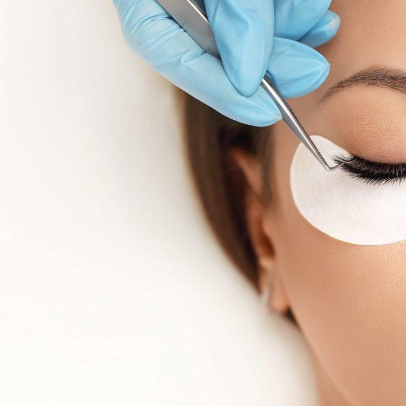 Eyelashes Extensions. Fake Eyelashes. Eyelash Extension Procedur